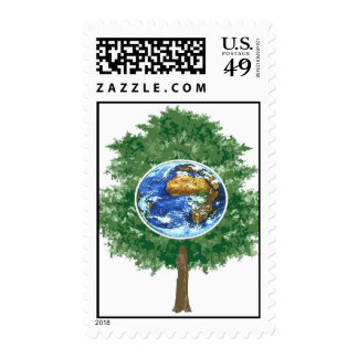 earthday tree postage stamp