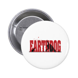 Earthdog Black/Red silhouette 2 Inch Round Button