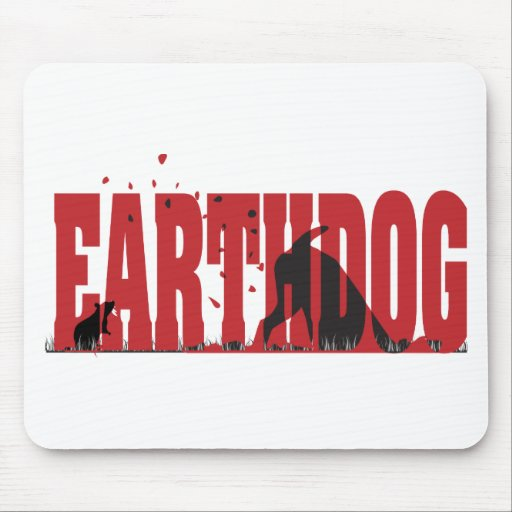 Earthdog Black/Red silhouette Mouse Pad