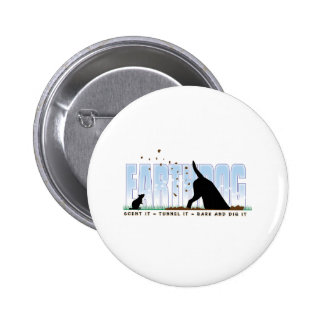 Earthdog color design 2 inch round button