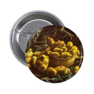 Earthen Bowls by Vincent van Gogh Buttons