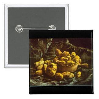 Earthen Bowls by Vincent Willem van Gogh Pinback Button