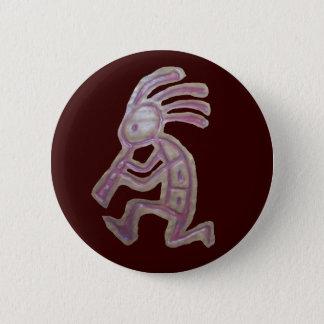Earthenware Kokopelli Pinback Button