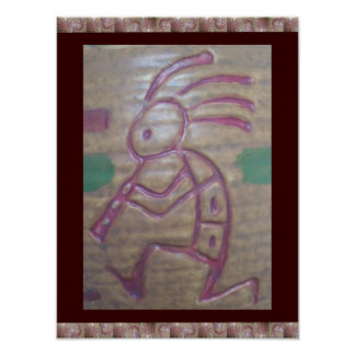Earthenware Kokopelli Poster