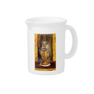 Earthenware Virgin and Child by Pierre Renoir Drink Pitchers