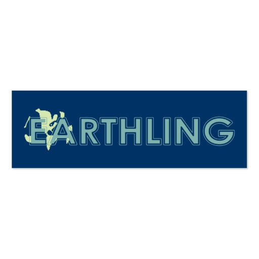 Earthling Bookmark Double-Sided Mini Business Cards (Pack Of 20)