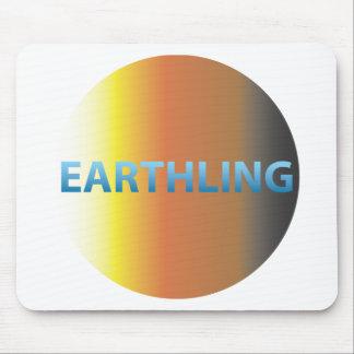 Earthling del AP redondo Tapetes De Ratones