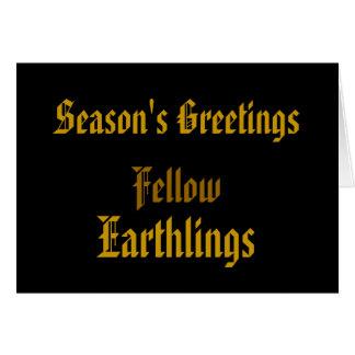 """Earthlings"" Funny Merry Xmas / House-of-Grosch Card"