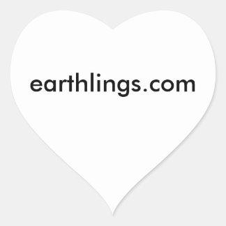 earthlings pegatina en forma de corazón