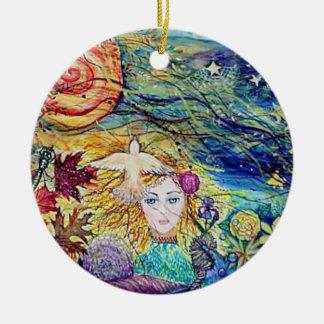 Earthly Delights Fantasy art Ceramic Ornament