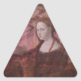Earthly Delights Triangle Sticker