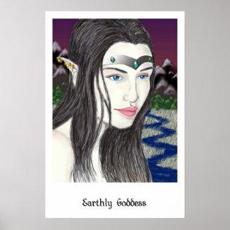 Earthly Goddess Poster