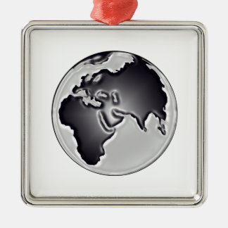 Earthly View Metal Ornament