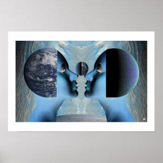 EarthMoon-Print Poster