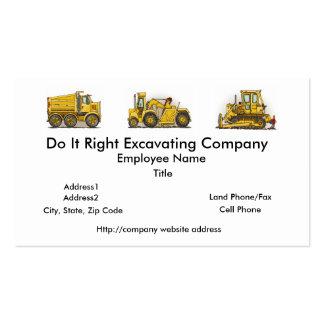 Earthmover Construction Busines Cards Business Card Template