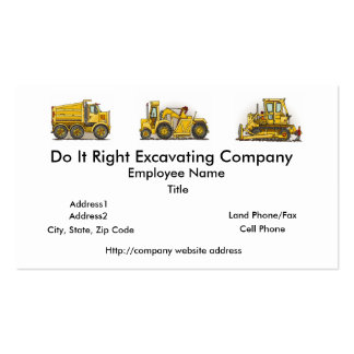 Earthmover Construction Busines Cards Business Card Template