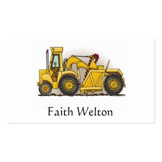 Earthmover Construction Business Card Template