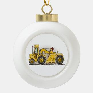 Earthmover Construction Ceramic Ball Christmas Ornament