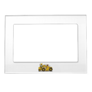 Earthmover Construction Magnetic Photo Frame
