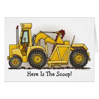 Earthmover Construction Note Card