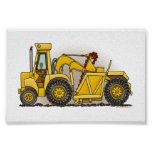 Earthmover Construction Poster
