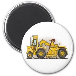 Earthmover Construction Round Magnet