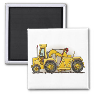 Earthmover Construction Square Magnet
