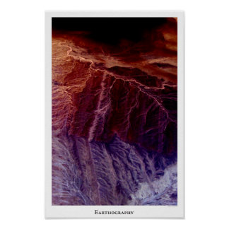 Earthography 1 Vibrant Poster