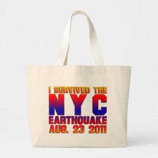 earthquake 2011 jumbo tote bag