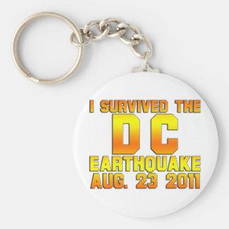 earthquake 2011 basic round button keychain
