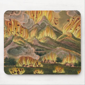 Earthquake and Eruption of the Mountain of Asama-y Mouse Pad