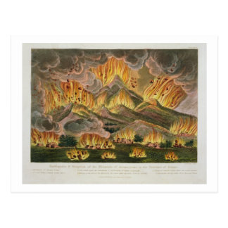 Earthquake and Eruption of the Mountain of Asama-y Postcard
