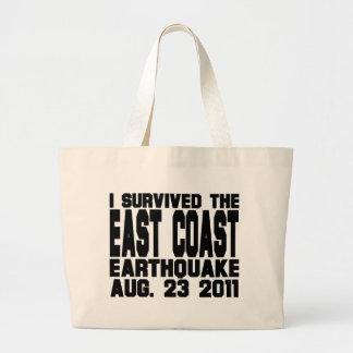 earthquake jumbo tote bag