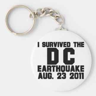 earthquake basic round button keychain