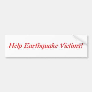 Earthquake Car Bumper Sticker