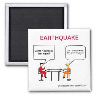 Earthquake Cartoon Fridge Magnet
