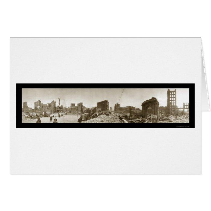Earthquake Damage SF CA Photo 1906 Card
