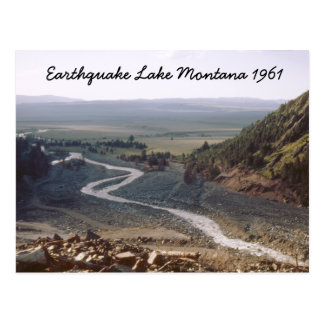 Earthquake Lake Slide Montana 1961 Postcard