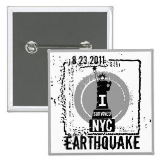 Earthquake NYC 2011 Button 2