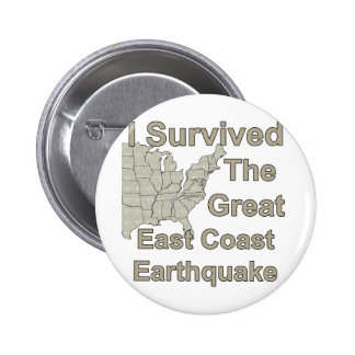 Earthquake survivor pinback button