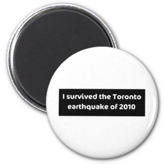 EARTHQUAKE Toronto 2 Inch Round Magnet