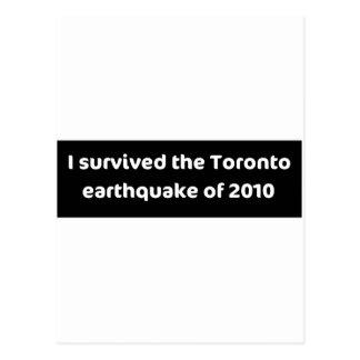 EARTHQUAKE Toronto Postcard