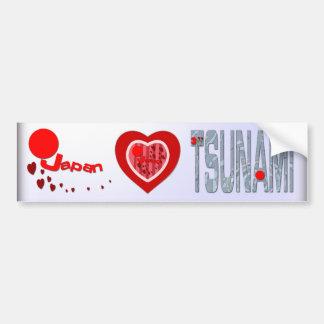 Earthquake Tsunami Bumper Sticker