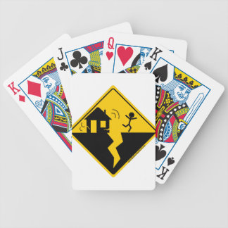 Earthquake Warning Merchandise and Clothing Bicycle Playing Cards