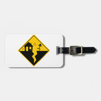 Earthquake Warning Merchandise and Clothing Travel Bag Tag