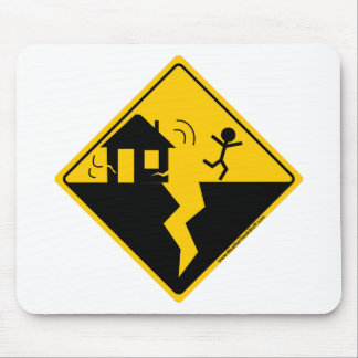 Earthquake Warning Merchandise and Clothing Mouse Pad