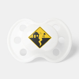 Earthquake Warning Merchandise and Clothing Pacifier