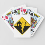 Earthquake Warning Merchandise and Clothing Bicycle Poker Deck