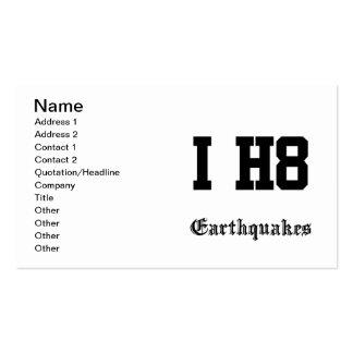 earthquakes business card