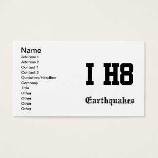 earthquakes business card